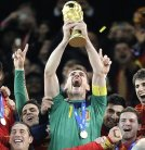 Casillas the Spanish Captain with his team in 2010